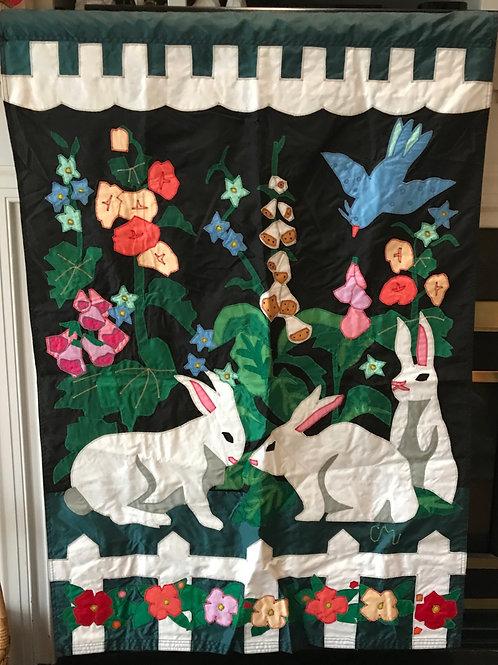 Spring Bunnies Flag
