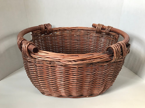 Brown Wicker Towel Basket