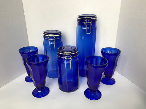 Cobalt Blue Containers & Glasses