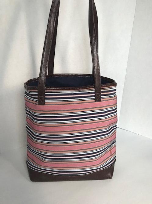 Pink Striped Purse