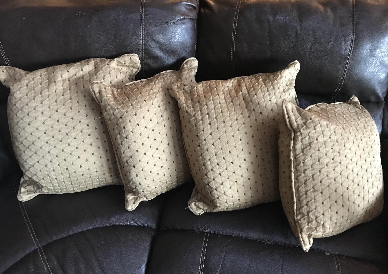 Gold Pillows w/ Stiching