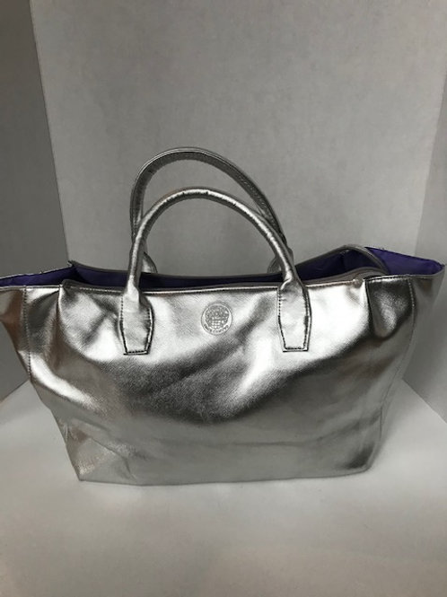 Vince Camuto Silver Leather Purse