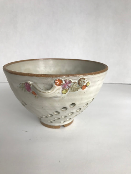 Hand-Made Pottery Fruit Strainer