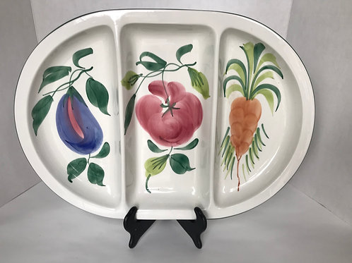 Hand Painted Ceramic Veggie Platter