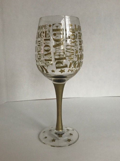 Holiday Wine Glass from Tweed
