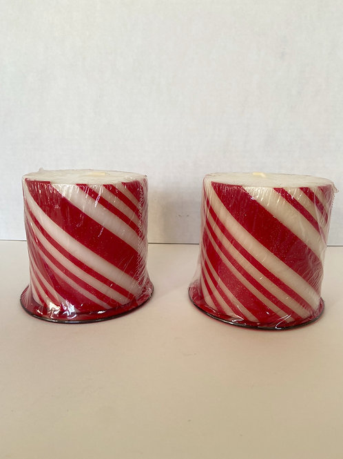Candy Cane Candles (Set of 2)