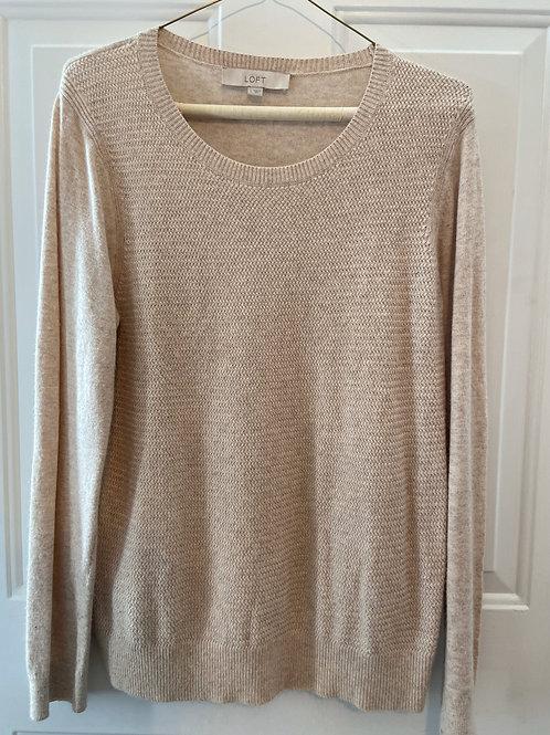 Ann Taylor LOFT Beige Sweater
