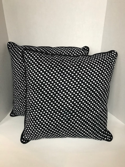 Black & White Polka Dot Pillows