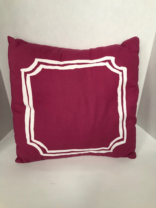 Pink & White Square Pillow