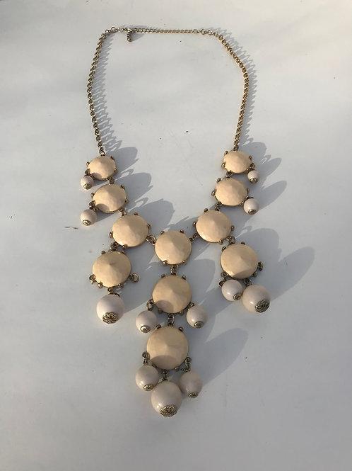 Beige Stones Necklace