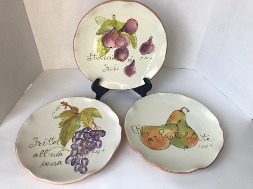 Crate & Barrel Decorative Fruit Plates