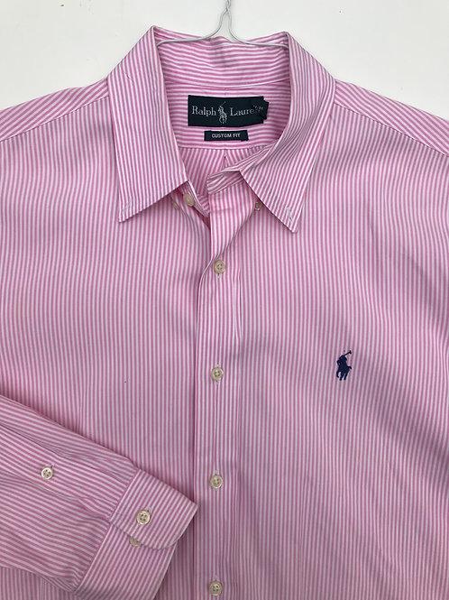 Ralph Lauren Pink Striped Button Down (16/32-33)