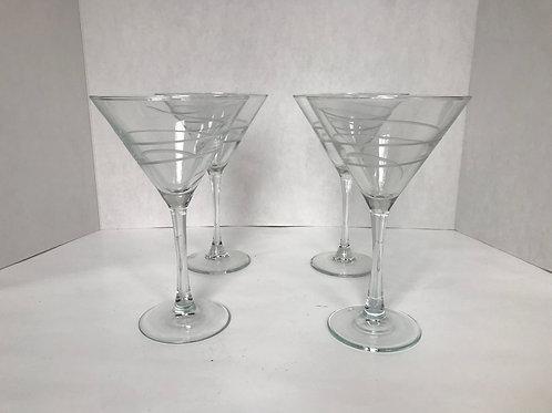 Swirled Martini Glasses