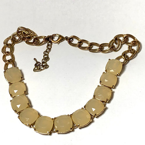 Natural Stone and Gold Necklace