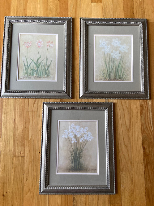 Trio of Floral Prints