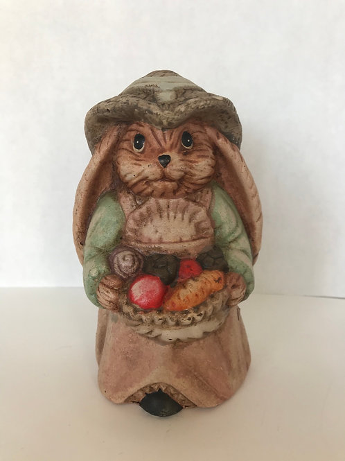 Ceramic Bunny with Fruit Basket