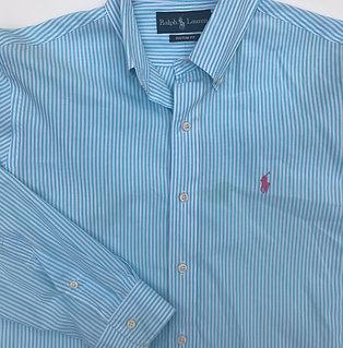 Ralph Lauren Turquoise Stripe (Medium)