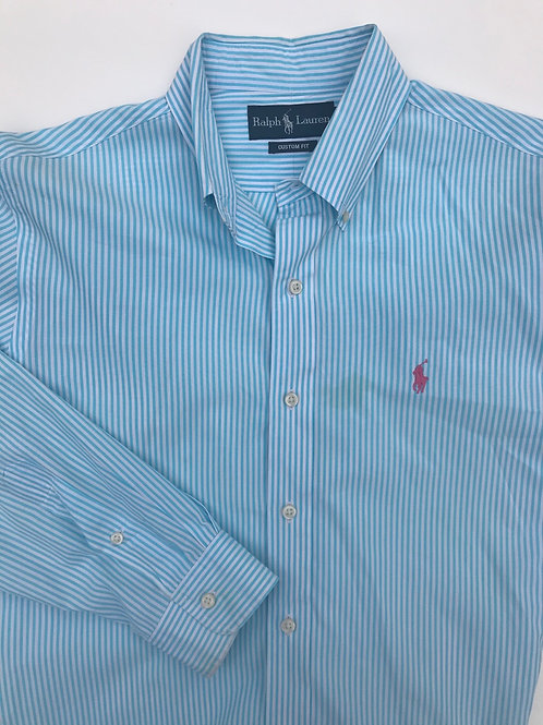 Ralph Lauren Turquoise Stripe (Medium)