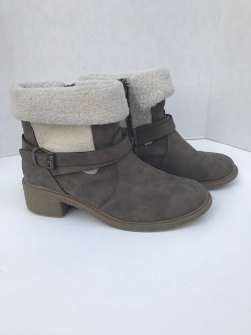 Stevies Gray Suede Boot with Zipper