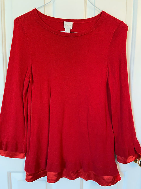 Chico's Red Blouse
