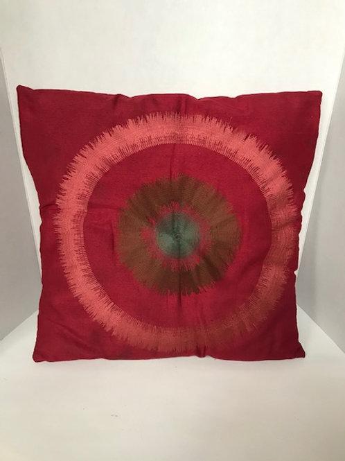 Burgundy Sunburst Throw Pillow