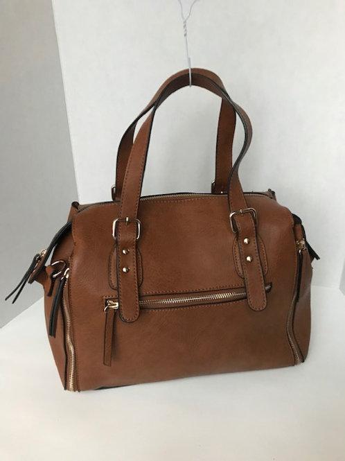 Brown Leather Adjustable Purse