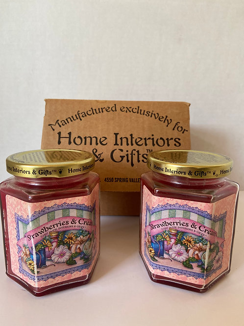 Strawberries and Cream Scented Candles (2)