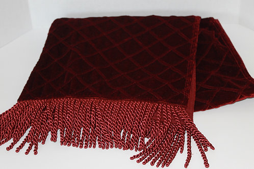 "70"" Velvet Crimson Table Runner"