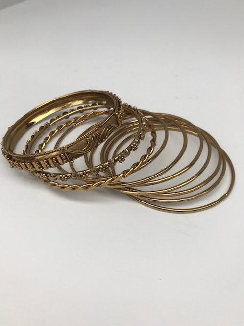 Variety of Gold Bracelets (10)