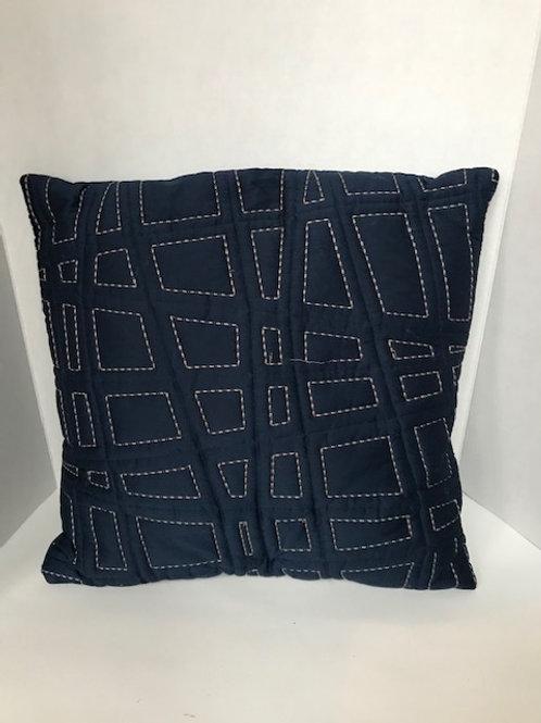 Navy Blue w/ Gold Threading Pillow