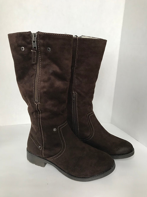 Brown Suede Fold-Down Boot