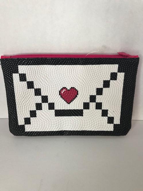 Love Letter Beaded Cosmetic Bag