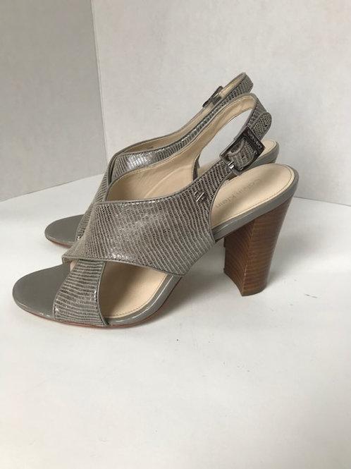 Calvin Klein Leather Sandal w/ Heel