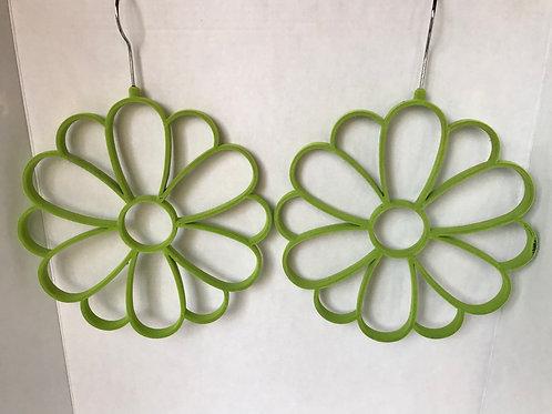 Velvet Flower Hanging Scarf Holders (2)