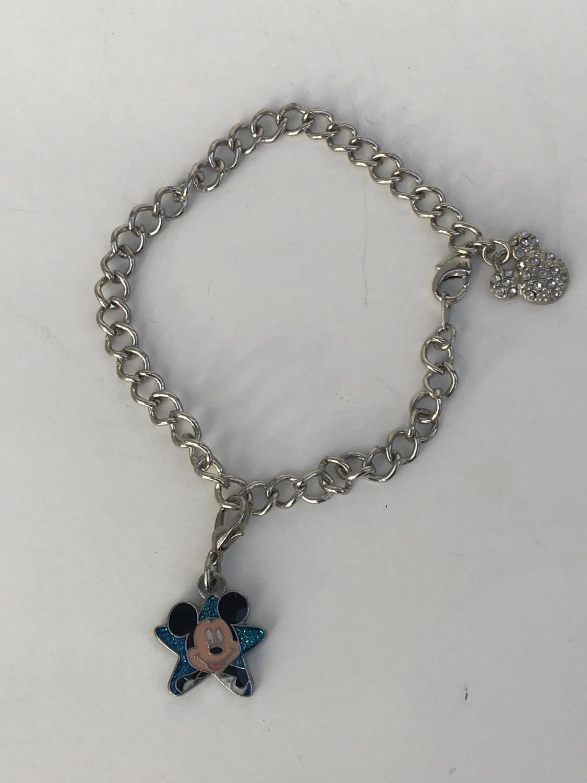 Girls Mickey Mouse Charm Bracelet