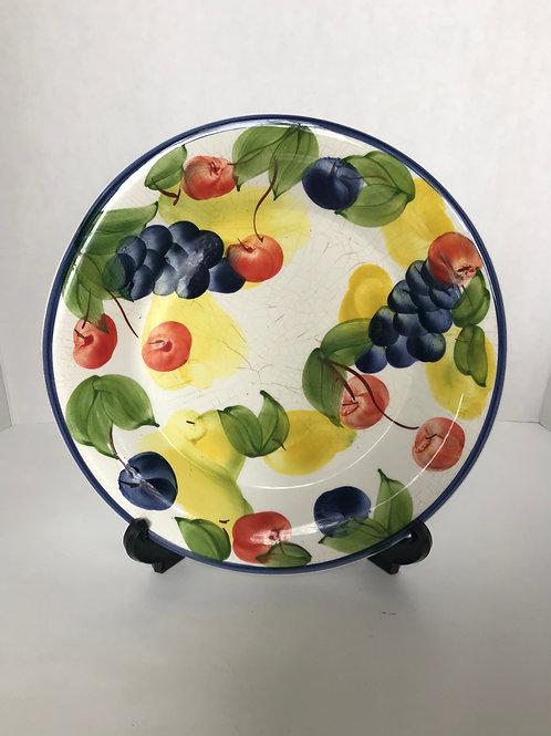 Ceramic Hand Painted Fruit Plate
