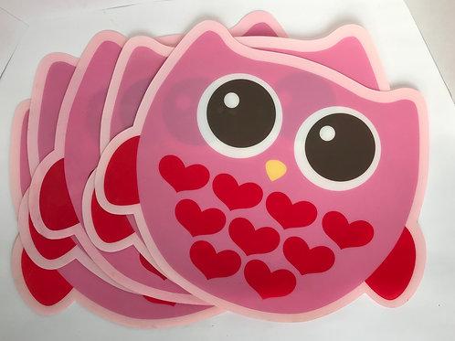 Owl vinyl Placemats(5)