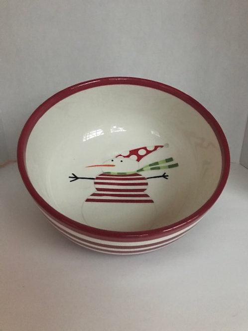 Large Ceramic Holiday Serving Bowl