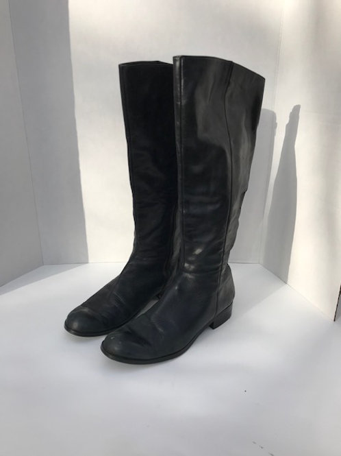 Ann Taylor Loft Black Leather Boots