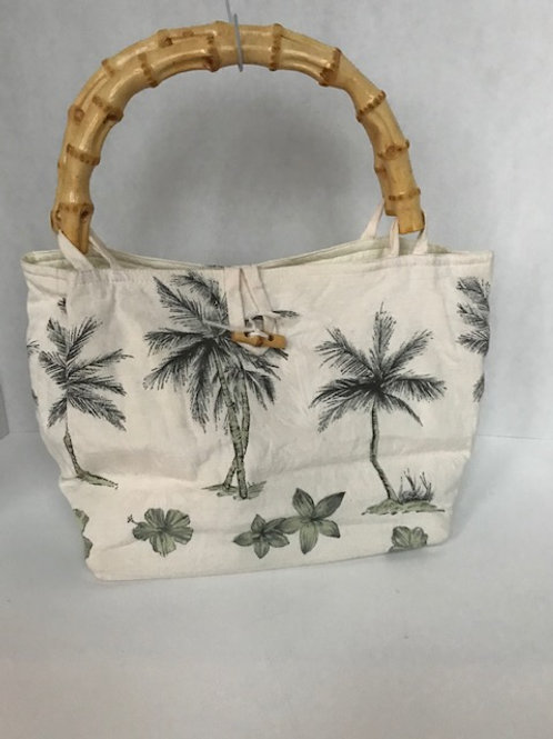 Palm Tree Canvas Purse