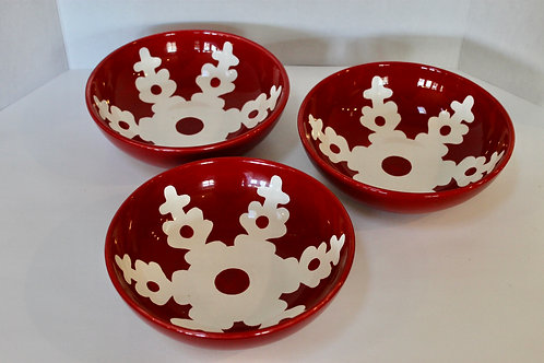Large Holiday Ceramic Bowls