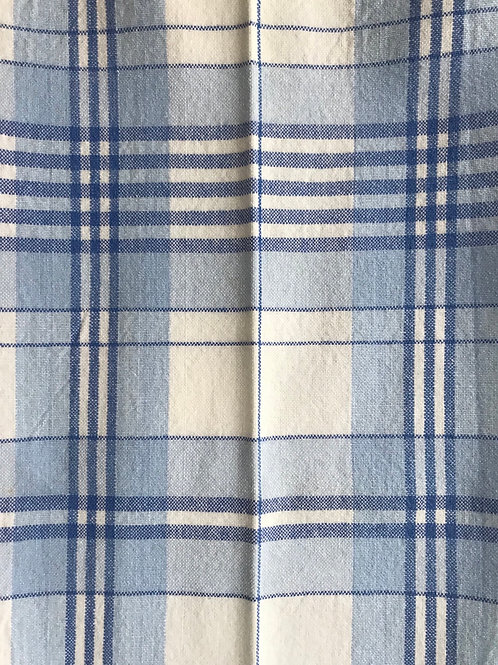 Blue & White Plaid Kitchen Tea Towel