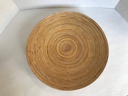 Flattened Wooden Bowl