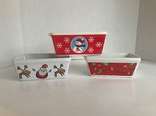 Assorted Ceramic Holiday Bread Pans