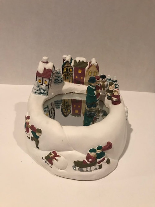 Magnetic Ice Skaters on Ice Music Box (Batteries Not Included)
