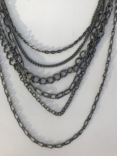 Multi Chain Multi Length Necklace