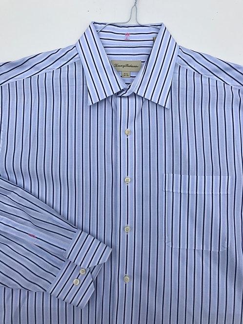 Tommy Bahama Blue & Navy Striped (16.5/34-35)