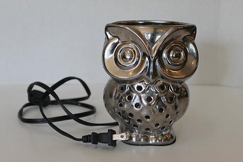 Silver Owl Lamp