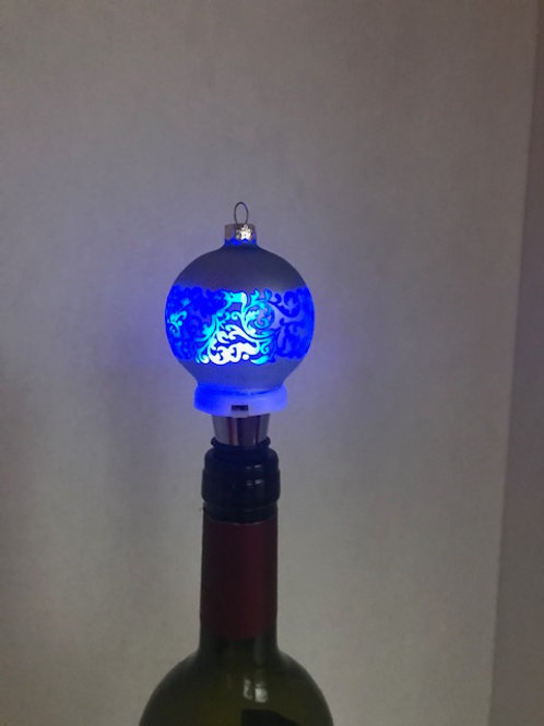 Light-Up Ornament Wine Bottle Topper