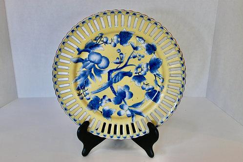 Yellow & Blue Decorative Plate